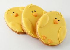 Cute chick Easter cookies