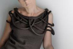 Sale - Knitted okapi dress, 2013 fashion trend,Paris fashion,French, Paris. $250.00, via Etsy.