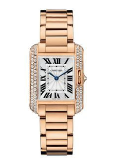 A Good Classic Watch... Cartier unveils its latest beauty, the Tank Anglaise. Originally introduced in 1917, the watch will be available this June in three gold color and size options, with or without diamonds. Cartier.com