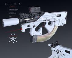 Concept Weapons Portfolio, Alex Penescu on ArtStation at https://www.artstation.com/artwork/compact-rifle