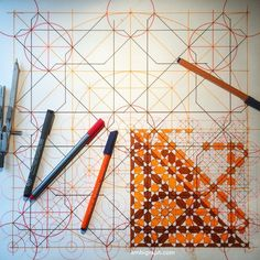 Arabesque, Arabic Pattern, Geometry Art, Graphite Drawings, Islamic Designs, Mandala, Doodles, Crafty, Tiles