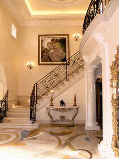 36 super ideas for art nouveau design interior inspiration stairways Foyer Staircase, Marble Staircase, Staircase Design, Railing Design, Banisters, Stair Railing, Railings, Art Nouveau Design, Art Deco