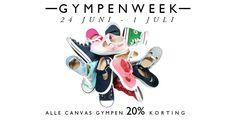 Gympenweek bij NicoNico! 20% korting op alle canvas gympen!