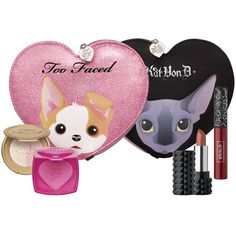 KVD x Too Faced 'Better Together-Cheek Lip Makeup Bag' gift set ($40) ❤ liked on Polyvore featuring beauty products, gift sets & kits, cosmetic purse, make up purse, too faced cosmetics, travel kit and make up bag