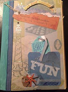 #doehetzelfvrouw Zelfgemaakt album van enveloppen. Vakantie met mijn dochter en Guusje en Beau in de provincie Zeeland