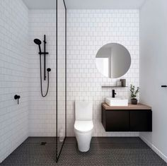 Modern Small Bathroom Design The Basic Components of Modern Bathroom Designs Modern Small Bathroom Design. Incorporating a modern bathroom design will give you a more … House Bathroom, Small Bathroom, Bathrooms Remodel, Bathroom Decor, Trendy Bathroom, Bathroom Design, Minimalist Bathroom, Shower Room, Bathroom Layout