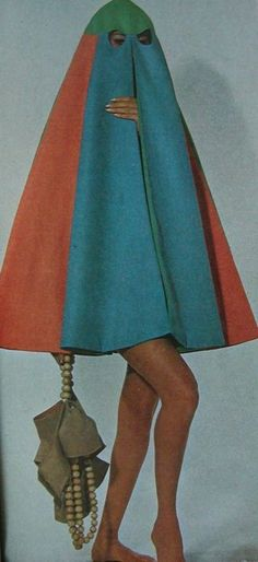 Beach cape designed by Fontana Sisters of Rome in 1967