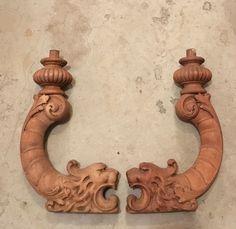 "Antique salvaged lion fragments. 2.5""w 16""h x 10""d SOLD"