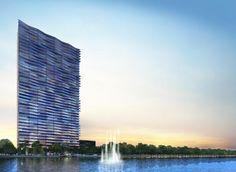 The Arquitectonica-designed Icon Bay is in Miami's Edgewater neighborhood.