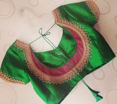 Gorgeous Blouses In Every Shade To Go With Your Sarees! New Saree Blouse Designs, Cutwork Blouse Designs, Simple Blouse Designs, Stylish Blouse Design, Bridal Blouse Designs, Sari Blouse, Blouse Back Neck Designs, Lehenga Designs, Kurta Designs