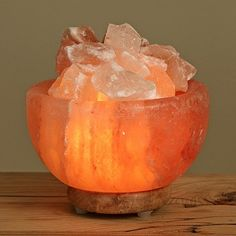 Wbm Salt Lamp Wbm Hand Carved Himalayan Crystal Salt Lamp Fire Bowl  Fire Bowls
