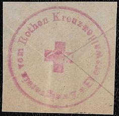 +  WW1 Germany Red Cross Envelope Label Seal World War One used