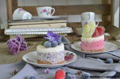 ABOUT VERENA : No - Bake Cheesecake mit Himbeeren und Blaubeeren / No - Bake Blueberry and Raspberry Cheesecake