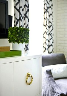 topiary, hardware, drapery panels