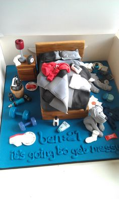 messy bedroom cake - Google Search