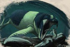 Reptiles, Extinct Animals, Prehistoric Creatures, Zoology, Creature Design, Whale, Fantasy Art, Beast, Stone Age