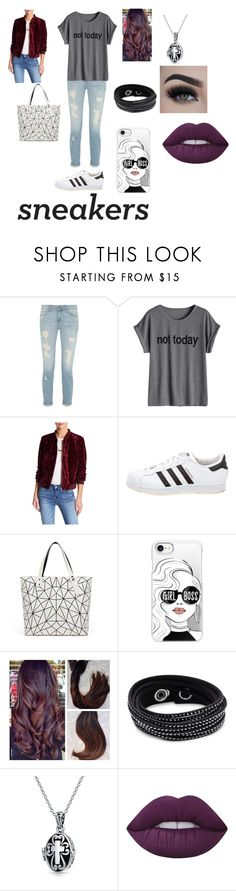 """""""sneaker"""" by caseyanne18 ❤ liked on Polyvore featuring Kensie, adidas, Bao Bao by Issey Miyake, Casetify, Swarovski, Bling Jewelry and Lime Crime"""