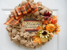 Autumn Fall Harvest Burlap Rustic Country by ChloesCraftCloset, $36.00