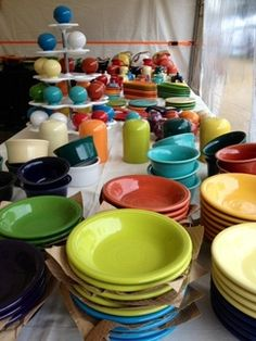 Fiestaware at Brimfield