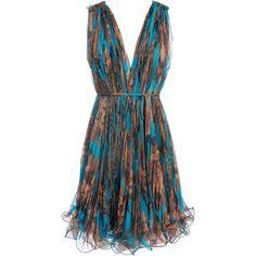 Stella McCartney Floral print pleat dress