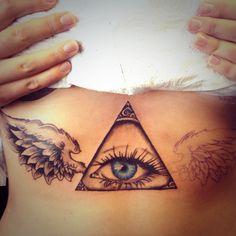 Illuminati eye tattoo, unique tattoo as the eye is my own.