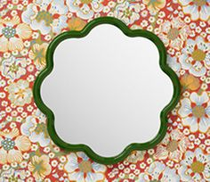 Flora Mirror 8 Petals by Balineum Pink Mirror, Mirror Mirror, Downstairs Loo, Attic Remodel, Handmade Tiles, Custom Metal, Bathroom Furniture, Mirrors, Bathrooms
