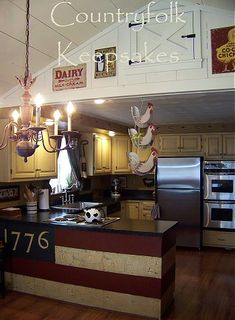 I am doing this with a repurposed oak buffet for my new kitchen island!!!! Love Americana!!