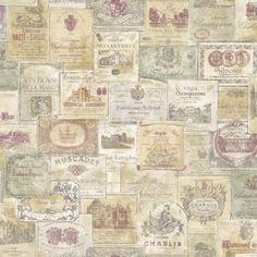 Memories G56173 wijn etiketten vliesbehang noordwand vin wemekamp schilder behanger den ham