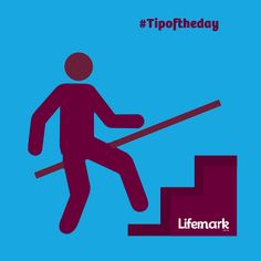 Accessible handrails fixed to Both Sides of the stairs greatly reduce the risk of slips and falls. Slip And Fall, Tip Of The Day, Stairs, Letters, Life, Design, Stairway, Staircases, Letter