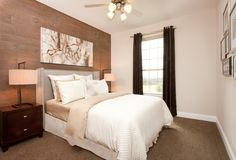 Give you guests something to remember with a stunning accent wall. Seen in Avalon Square, a Dallas community.