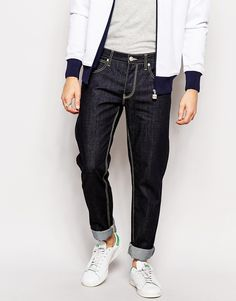 "Jeans by French Connection Cotton denim Dark wash Contrast stitching Button fly Five pockets Skinny fit - cut closely to the body Machine wash 100% Cotton Our model wears a 32""/81cm regular and is 185.5cm/6'1"" tall"