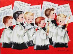 892 50s Singing Choir Altar Boys Vintage Christmas Card Greeting | eBay Vintage Christmas Cards, Christmas Greeting Cards, Choir, Vintage Images, Altar, Singing, Illustrations, Collection, Ebay