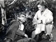 """James Dean as Jim Stark Natalie Wood as Judy in Warner Bros. Rebel Without a Cause"""" [Nicholas Ray, Natalie Wood, Marlon Brando, James Dean, Marilyn Monroe, Claudia Cardinale, Ann Margret, Old Hollywood Stars, Classic Hollywood, Vintage Hollywood"""