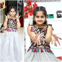 Kalamkari dress for kids