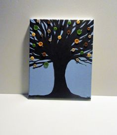 Tree Art  Button Tree Painting  Button Collage  by SamIamArt, $15.00