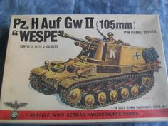 NOS SEALED Box 1970's Bandai 1/48 Scale Pz. H Auf GwII (105mm) Wespe Model by MyHillbillyWays on Etsy