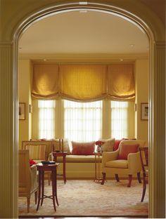 Beautiful Fortuny Soft Roman Shades; Design by Shelley Gordon Interior Design;