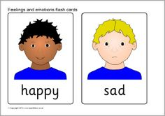 A set of printable picture cards showing children displaying different feelings and emotions. Emotions Cards, Feelings And Emotions, Feelings Preschool, Feeling Pictures, Social Emotional Learning, Social Skills, Fun Activities For Kids, Educational Activities, Free Teaching Resources