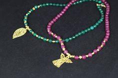 Piedras naturales facetadas y piezas chapadas en oro puedes comprarlo en www.greenlily.es