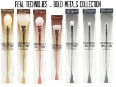 Absolutely adore the Real Techniques Bold Metals Collection. Real Techniques are amazing brushes but these are even prettier