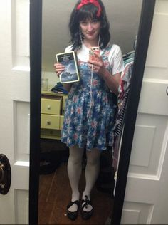 My smart girl costume was Matilda Wormwood! (I held a copy of Moby Dick all day long. Diy Costumes, Halloween Costumes, Costume Ideas, Matilda Wormwood, Matilda Costume, Holiday Dresses, Summer Dresses, School Costume, Book Week Costume