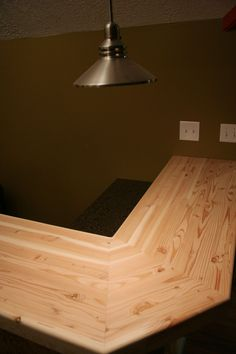 Bar Top Ideas Basement Mesmerizing Myrtle Wood Bar Top  1912 Sellwood Bungalow Basement  Pinterest Review