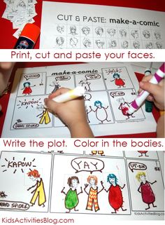 "Your child can be a comic…a comic writer that is!  Make a story with this free printable and your own art work.  Have you noticed that Kids Activities Blog loves free printables? Be A Comic We love fairy tales and manga! Comic books are cherished over here – ""animated novels"" are one of the few things …"