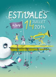 "Estivales édition 2014 par ""The Feebles"" #illustration"