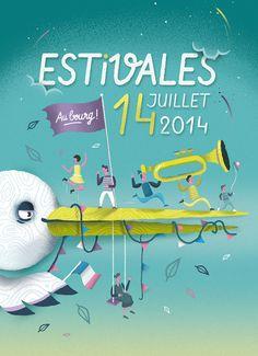"""Estivales édition 2014 par """"The Feebles"""" #illustration"""