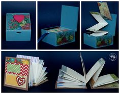 Álbum plegable en caja. Playing Cards, Diy, The Creation, Crates, Manualidades, Bricolage, Handyman Projects, Do It Yourself, Cards