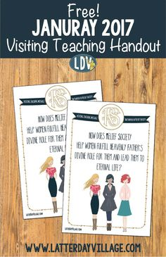 Free! January 2017 Visiting Teaching Printable Handout! Found on www.LatterDayVillage.com
