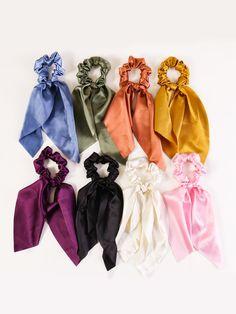 Ponytail Scrunchie, Scrunchies, Handmade Hair Accessories, Hair Accessories For Women, Cute Summer Outfits, Cute Outfits, Hair Supplies, Satin Sleepwear, Cute Headbands