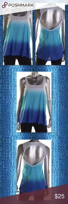 💠CLEARANCE NWT Blue Ombré Color Dipped Tank L💠💠 Jenni by Jennifer Moore Size: L Size Origin: US Color: Blue Dip Dye Condition: New with tags Style Type: Tank, Cami Collection: Jenni by Jennifer Moore Active Sleeve Length: Sleeveless Bust Across: Inches Material: 100% Polyester Fabric Type: Slub Specialty: Ombre Jenni by Jennifer Moore Tops Tank Tops