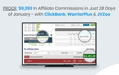 PROOF: $9,393 In Affiliate Commissions in Just 28 Days of January - with ClickBank, WarriorPlus & JVZoo Perfect Image, Perfect Photo, Love Photos, Cool Pictures, 28 Days, Thats Not My, January, San, My Love